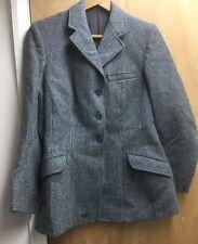 """Rosette By Matlock & Brown Grey Wool Tweed Ladies Hacking Jacket 34"""""""