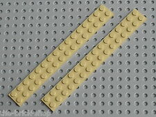 LEGO Star Wars Tan plates 2 x 16 ref 4282 / set 7171 7186 8416 7131 7191 7194...