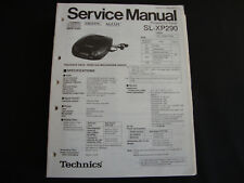 ORIGINALI service manual TECHNICS sl-xp290