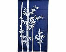 "Japanese 60"" Navy Indigo TAKE Bamboo Doorway Room Divider Curtain Tapestry Noren"