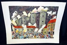 "1990 French Hawaii Print 13/300 ""La Fête du Château Sauvage"" by Guy Buffet (HMA)"