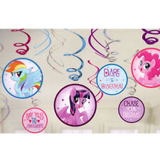 MY LITTLE PONY THE MOVIE HANGING SWIRL DECORATIONS (12)~ Birthday Party Supplies