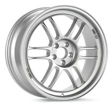 16x8 Enkei RPF1 4X100 +38 Silver Rims Fits Accord Integra Civic Miata Fox
