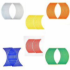 16 Strips Lots Reflective Motorcycle Car Rim Stripe Wheel Decal Tape Sticker PSB