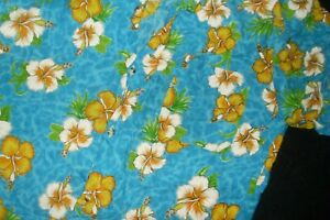 Bright Coloured Vintage Retro Style Surf/Hawaiian/Tropical Short Sleeved Shirt