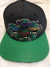 Nickelodeon Teenager Mutant Ninja Turtles Embroidered Cap Hat Leather Visor NEW