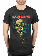 Official Iron Maiden Piece Of Mind Skull New T-Shirt Live After Death Powerslave