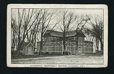 Clarinda Iowa IA c1907 Auditorium, Chautauqua Grounds, Outhouse to the Far Right