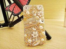 Luxury 3D Handmade Crystal Diamond Pearl Bling Handbag Purse Case iphone 4S 5 5S