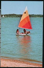 EARLEVILLE MD Girl Scouts Camp Grove Point Vintage Postcard Sailboat Maryland PC