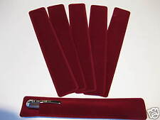LOT OF 6 RUBY RED VELVET PEN POUCH/SLEEVE HOLDER