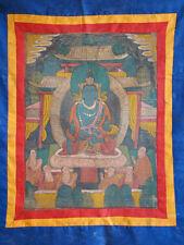 Antik Original Thangka Thanka Tibet Asiatika handbemalt
