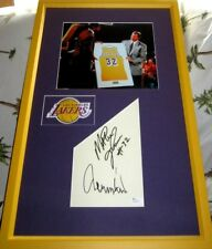 Magic Johnson Jerry West signed autographed autos framed w Lakers 8x10 photo JSA