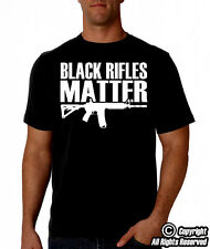 Black Rifles Matter Black TShirt | AR-15, AK47, 2nd Amendment, Pro Gun, Guns