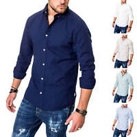 Jack & Jones Herren Langarmhemd Leinenhemd Business Hemd Herrenhemd