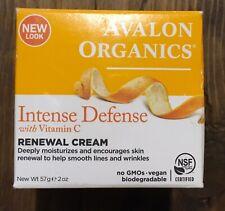 Avalon Organics Intense Defense with Vitamin C Oil-Free Moisturizer 2 oz New 57g
