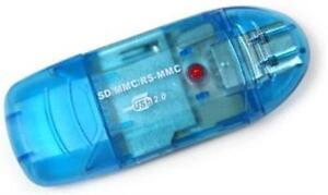 USB Kartenlesegerät für SD / SDHC / SDXC Speicherkarten bis zu 200 GB