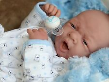"AWW! BABY BOY ""DOGGIES""! Preemie Life Like Reborn Pacifier Doll + Extras"