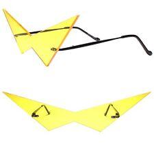 Futuristic Pointy Triangle Anime Manga Costume Cosplay Party Yellow Sun Glasses