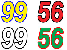 3 x RACE NUMBERS - Vinyl Decals / sticker - Motocross - Any Colour Any Number