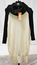 Karen Millen Cowl Neck Fine Knit Tunic Sweater Jumper Dress KQ142 Size 3