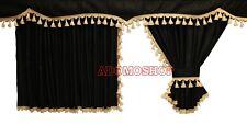 CAMION RIDEAUX pour mercedes actros mp4 gratuit Rideaux Crochet Noir-Beige