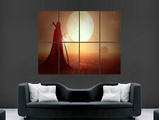 DEATH CLOAK GRIM REAPER SUNSET  CAR  ART WALL LARGE IMAGE GIANT POSTER !!!