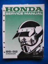 Honda 1986-1992 XR250R BRAND NEW Original Factory Shop Service Manual
