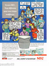 PUBLICITE ADVERTISING 065  1992  NEC   écrans moniteurs   MULTISYNC  FG