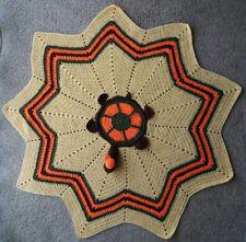 HANDMADE STAR CROCHET BABY TURTLE BLANKET, CHEVRON STICH, diameter is 105 CM