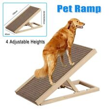40' Dog Ramp for Couch Sofa Bed Pet Cat Stairs 4 Adjustable Heights Folds Flat