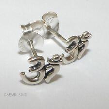 Solid 925 argento Sterling orecchini a perno Ohm Design Nuova Borsa Regalo & gratis UK P & P