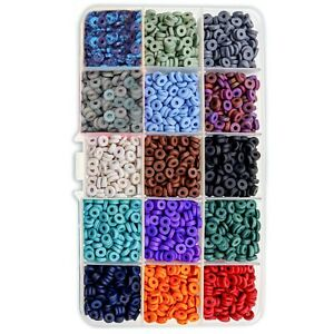 2,000 PCS Clay Flat Heishi Beads for Jewelry Making