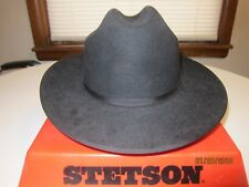 Vintage Stetson Hat Open Road, Color Dark Black 7 1/4 Excellent Condition Sweet!