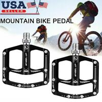 1 Pair MTB Bicycle Bike Pedals Aluminum Alloy Cycle Bearing Platform Flat Pedals