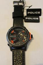Police Orologio da polso in acciaio inox bracciale in pelle King Cobra muli TIMEZONE pl14538jsu.61