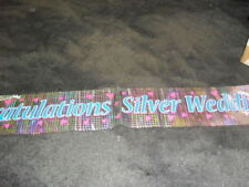 Anniversary Plastic 1-5 m Party Banners, Buntings & Garlands