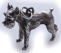 XL Anhänger Riesenschnauzer groß Silber 925 massiv Sterlingsilber Hund Unisex 1