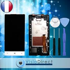 Ecran vitre complet sur chassis pour HTC 8S A620E blanc + kit outils