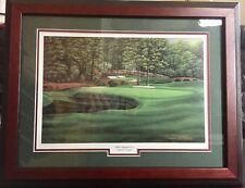 "Marci L Rule Signed Augusta Masters ""White Dogwood Hole #11"" Framed Lithograph"