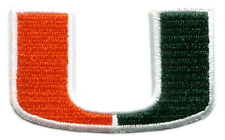 "MIAMI HURRICANES NCAA COLLEGE 2.5"" TEAM LOGO PATCH"