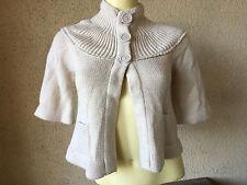 Dollhouse Doll House Cardigan Sweater Ecru Off White 3/4 Length Darling M Ladies