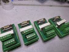 PHOENIX CONTACT - INTERFACE MODULES Qty of 4 - D9 Plug to Terminal FLKM-D9-SUB