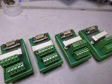 PHOENIX CONTACT - INTERFACE MODULES Qty of 4 - D9 Plug to Terminal FLKM-D9-SUB