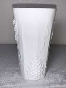 Indiana Colony Milk Glass Opaque White Harvest Grape Replacement Glasses