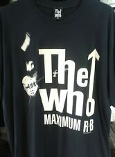 """The Who """" Maximum R&B """" size XL . t shirt in black. 100 % official ."""