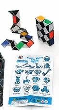 MAGIC CUBE SNAKE PUZZLE 1 PC TWIST BRAIN TEASER MIND BENDING TOY GAME NOVELTY