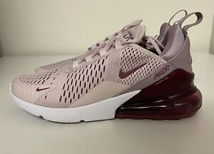 Nike Air Max 270 Barely Rose Vintage Wine Women's Sz 9 Running Shoes AH6789-601