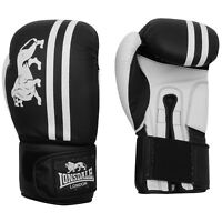 Lonsdale Club Sparring Boxing Gloves Black/White Gym Training Gloves