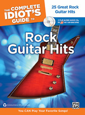 """THE COMPLETE IDIOT'S GUIDE TO ROCK GUITAR HITS"" MUSIC BOOK/CD-BRAND NEW ON SALE"